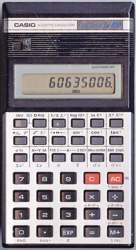 A desktop calculator