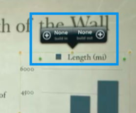 Keynote for iPad, showing an animations editing UI attached to a bar-chart.