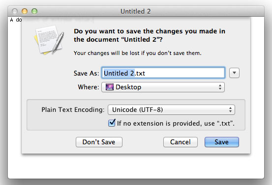 The new (combined) save sheet in Mac OS X 10.7 Lion
